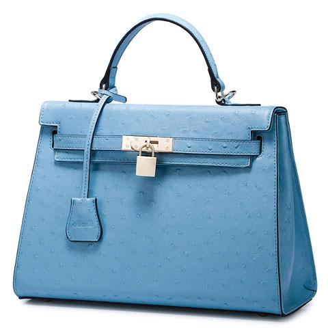 blaue hochwertige Damenhandtasche