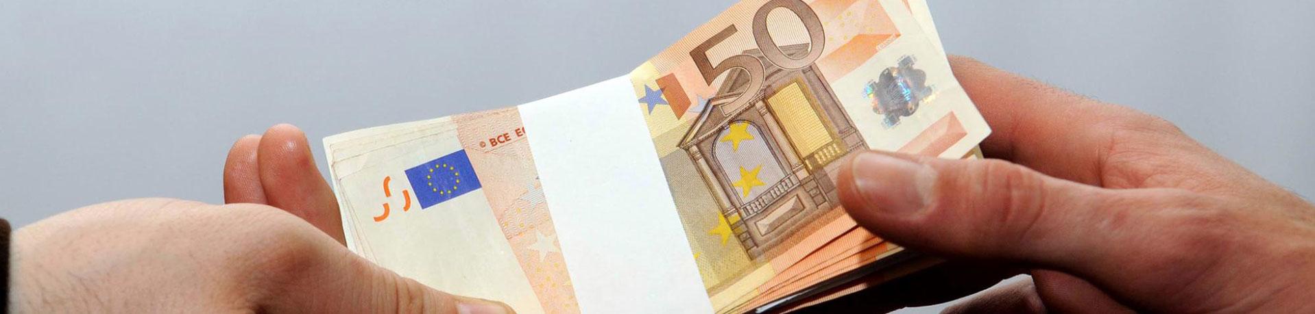 Fünfzig Euro Scheine