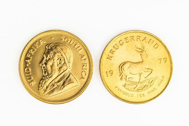 Krügerrandmünze 1979 Vorderseite und Rückseite