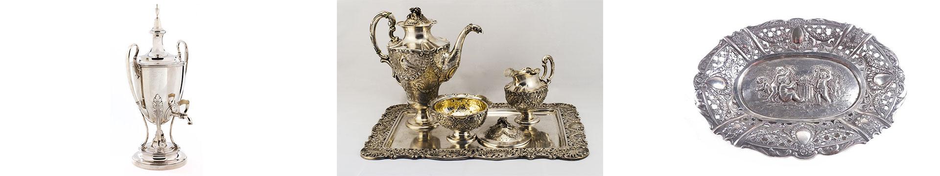 verschiedenes Geschirr aus Silber