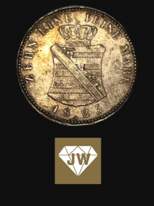 Münze 1825 zehn eine feine Mark 2