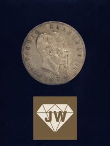 Münze 1870 Vittorio Emanuel