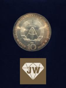 Münze 1969 zehn DDR Mark