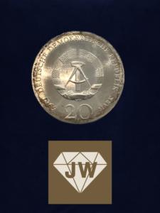 Münze 1969 zwanzig DDR Mark