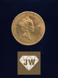 Elizabeth die Zweite einhundert Pounds Münze