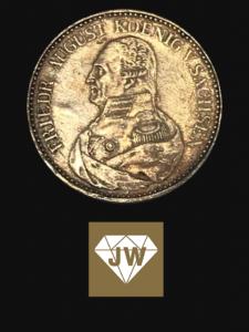Friedrich August König von Sachsen Münze 2