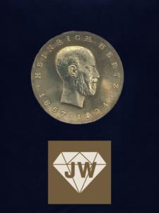 Heinrich Hertz 1857-1894 Münze