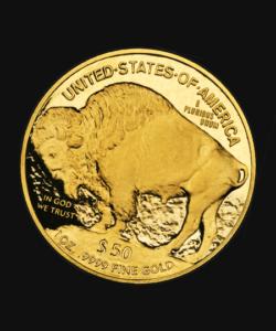 Goldmünze fünfzig Dollar