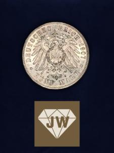 Fünf_Mark_A_Deutsches_Reich_1907_Wilhelm_II_König_von Württenberg