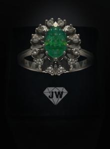 Smaragt Silberring