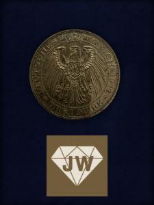 1911 Drei Mark Deutsches Reich - 1811 Friedrich Wilhelm III 1911 Wilhelm II Universität Breslau B