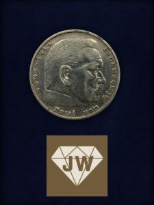 1936 Fünf Mark - Paul von Hindenburg A