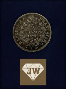 Fünf Francs 1873 A